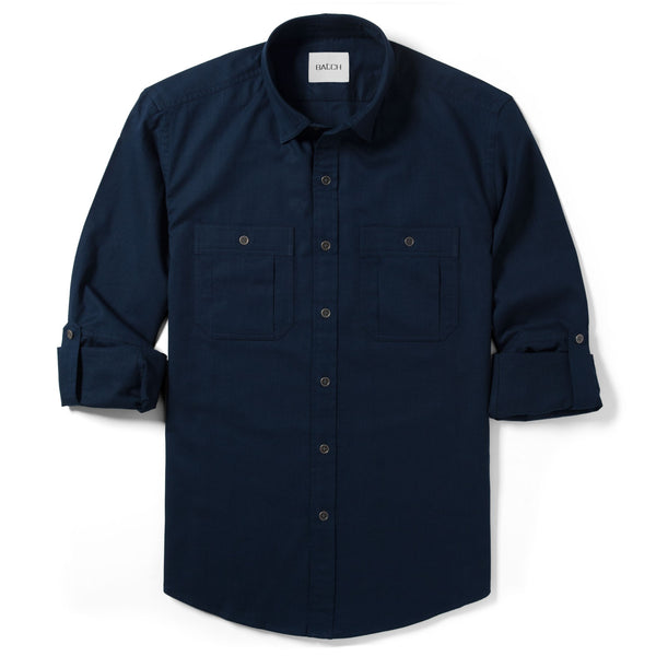Fixer Utility Shirt – Dark Navy Slub Twill