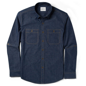 Fixer Utility Shirt – Dark Navy End-On-End