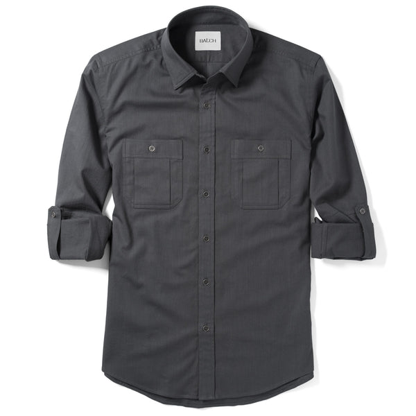 Fixer Utility Shirt – Slate Grey Slub Twill