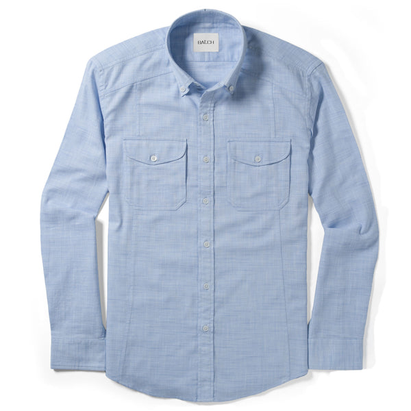 Freelancer Utility Shirt – Clean Blue Cross-Dye Cotton