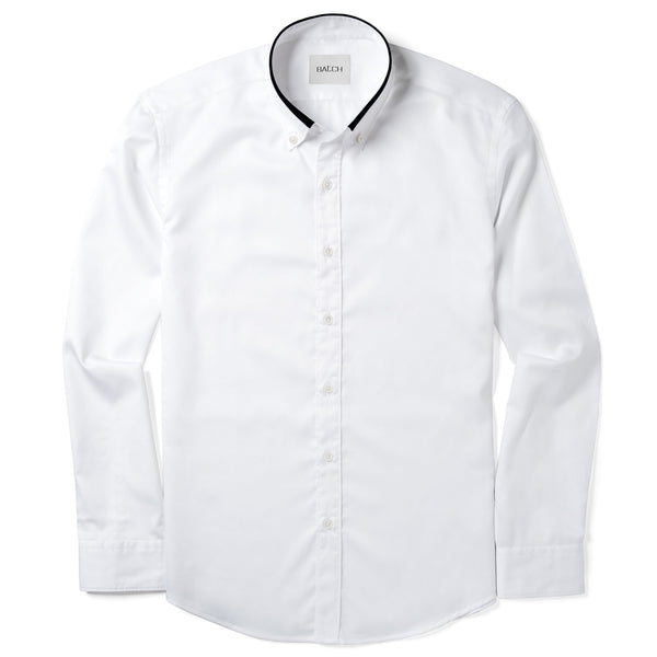 White / Navy Iconic Button-Down Collar Shirt