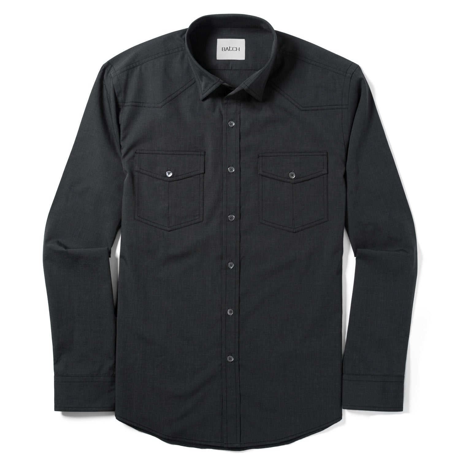 Maker Shirt – Asphalt Gray End-on-End