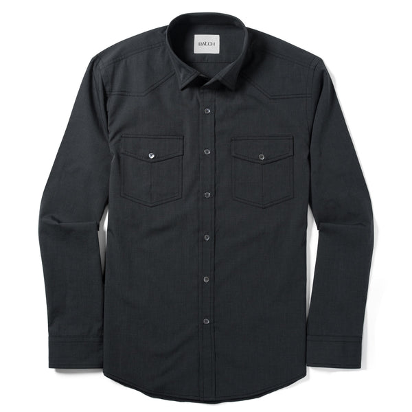 Maker Utility Shirt – Asphalt Grey End-on-End