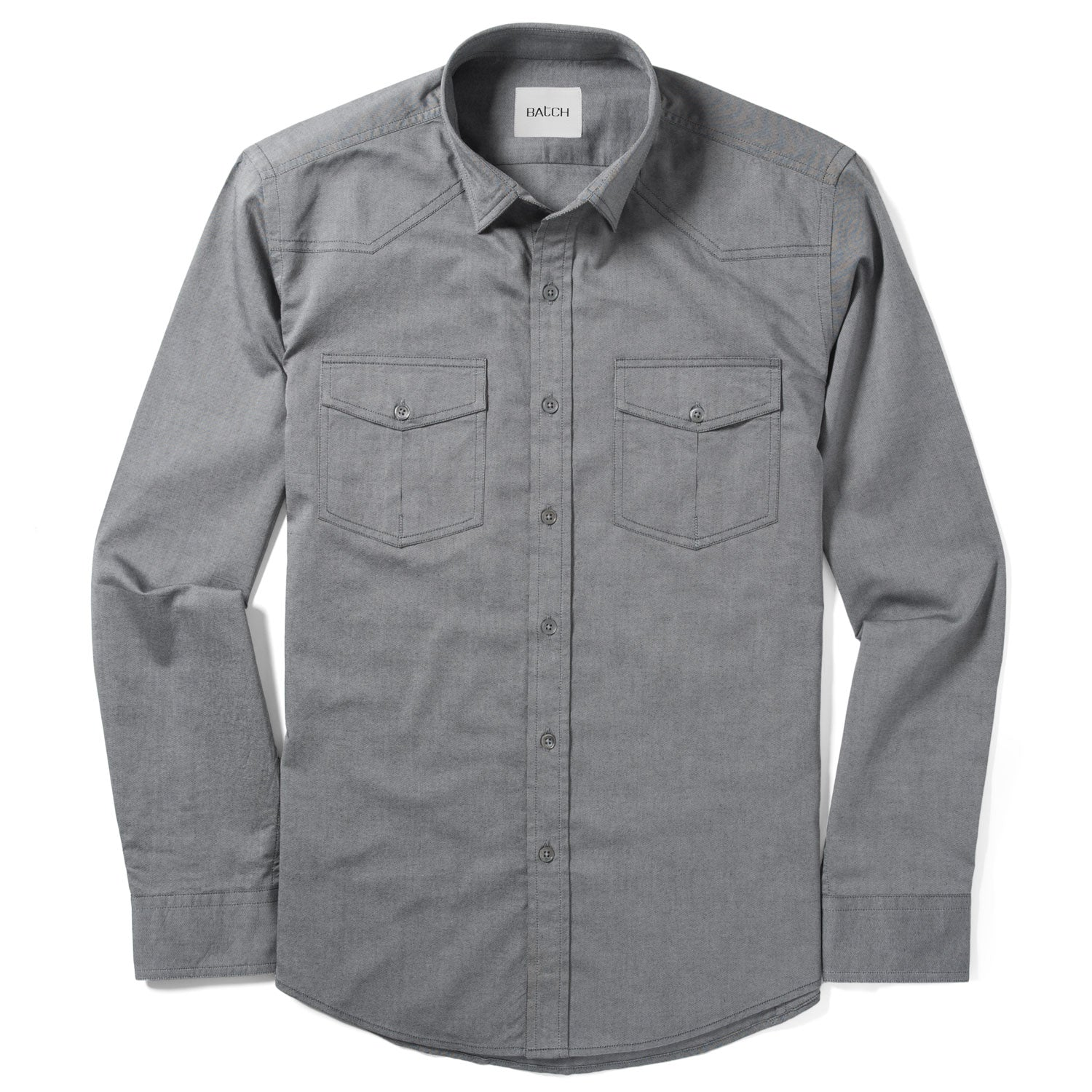 Maker Shirt – Smoke Gray Cotton Oxford