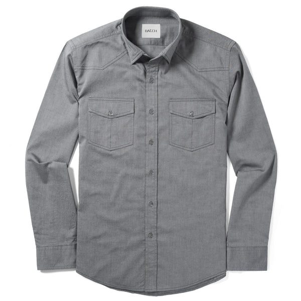 Maker Utility Shirt – Smoke Cotton Oxford