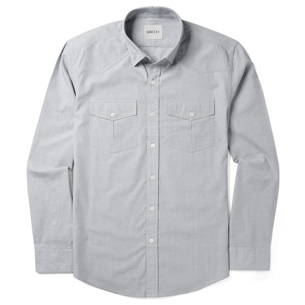 Maker Shirt – Aluminum Gray End-on-End
