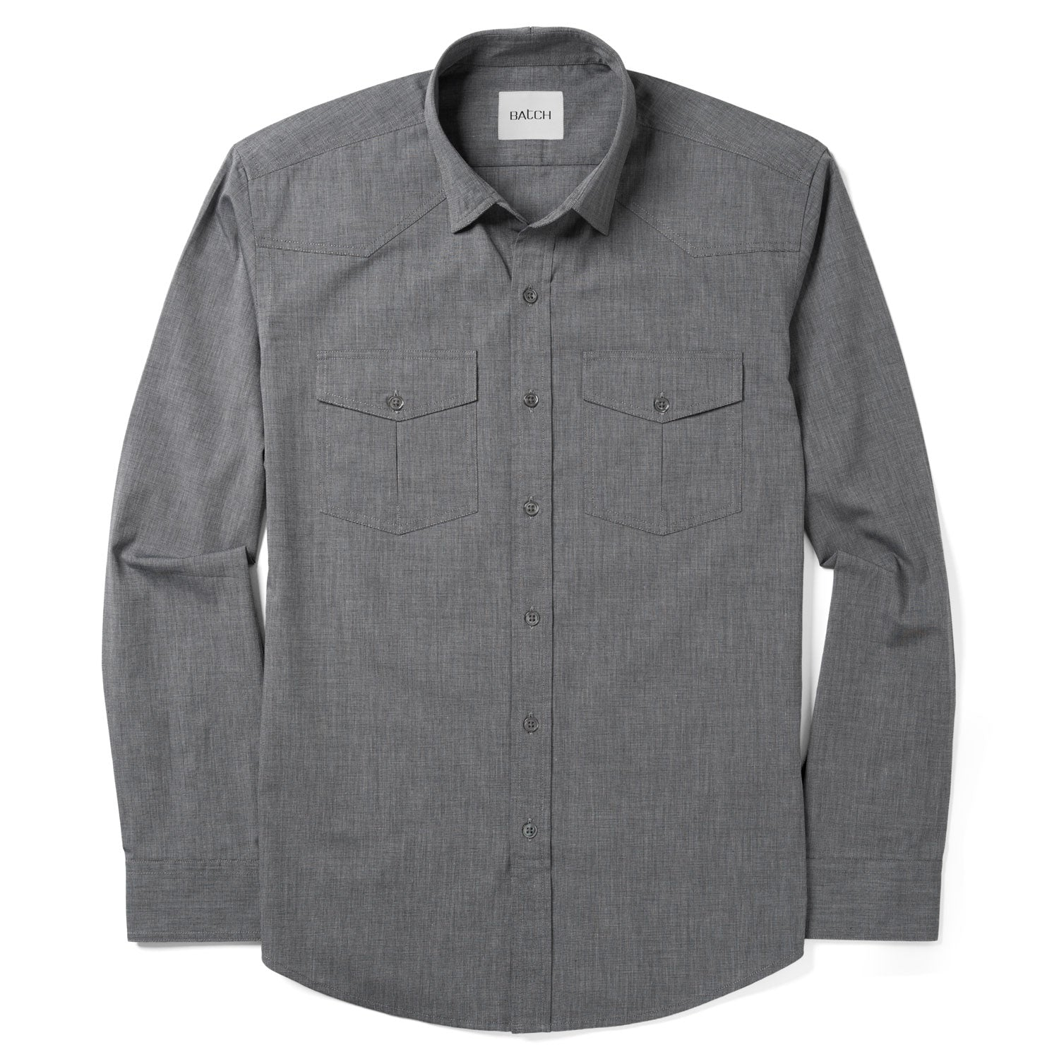 Maker Shirt – Titanium Gray End-on-End
