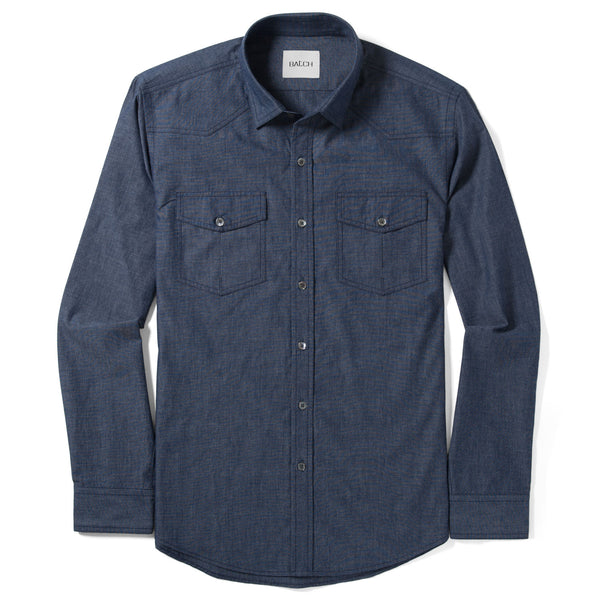 Maker Work Shirt – Navy End-on-End