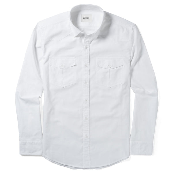 Maker Utility Shirt – Clean White Cotton Oxford