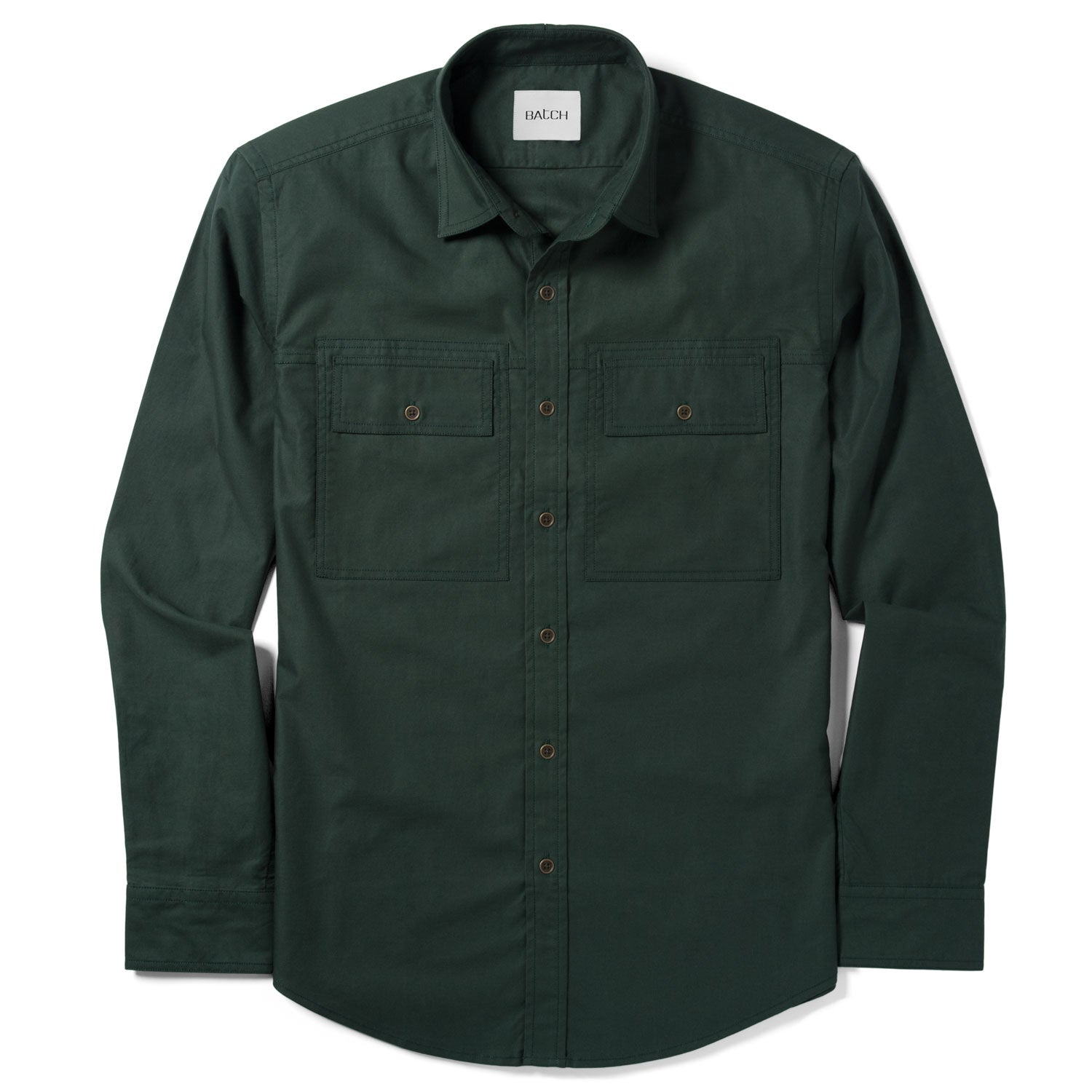 Mason Utility Shirt – Bottle Green Twill