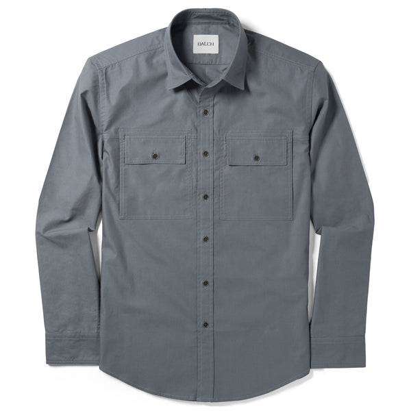 Mason Utility Shirt – Battleship Grey Twill