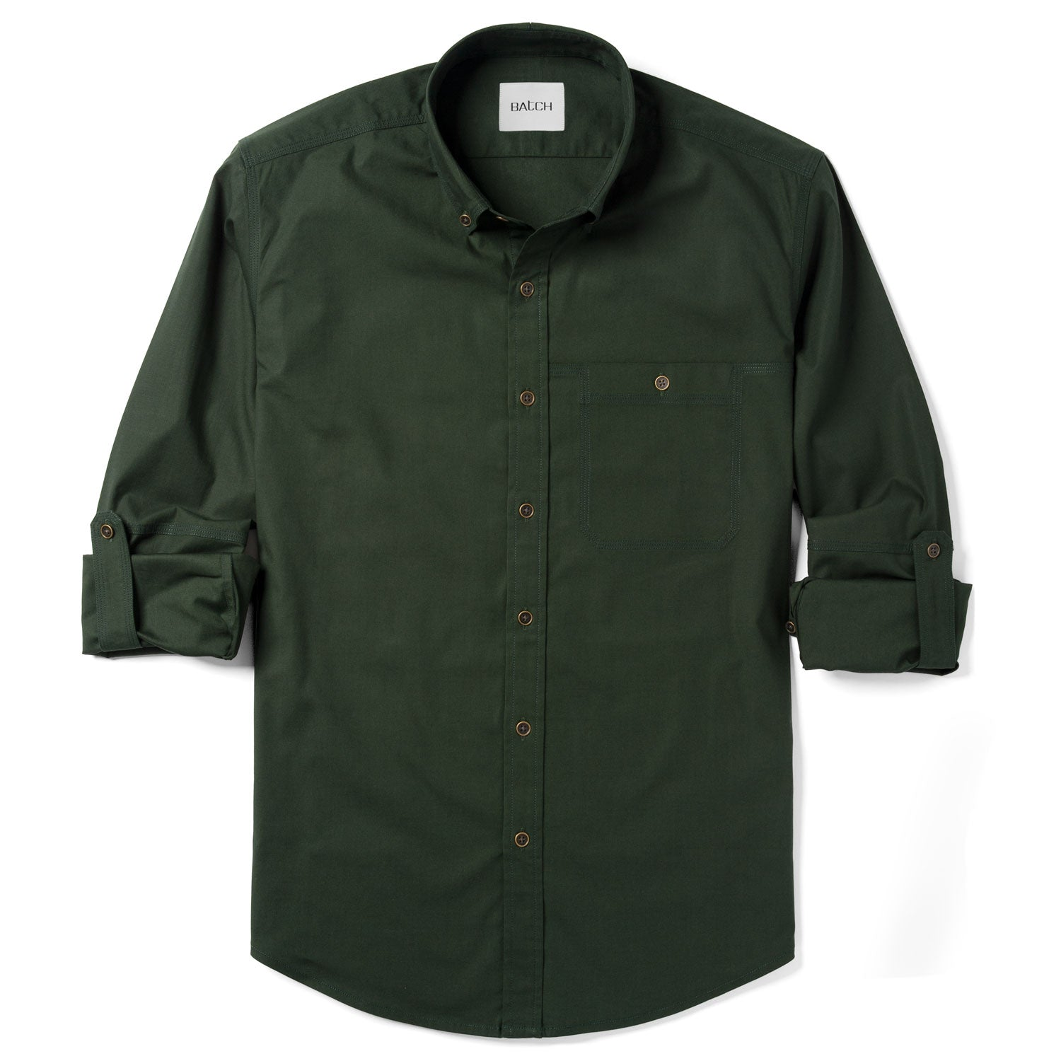 Mechanic One Pocket Casual Shirt – Olive Green Stretch Twill