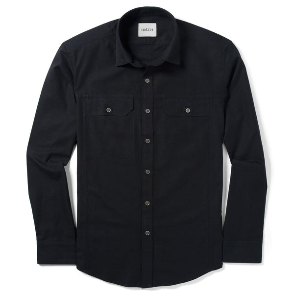 Operator Utility Shirt – Black Canvas