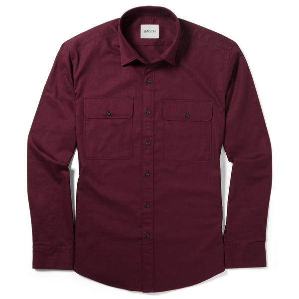 Shepherd Work Shirt – Dark Burgundy Twill