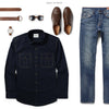 Constructor Two Pocket Men's Utility Shirt In Dark Navy Ways To Wear With Medium Denim