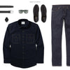Constructor Two Pocket Men's Utility Shirt In Dark Navy Ways To Wear With Dark Denim