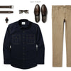 Constructor Two Pocket Men's Utility Shirt In Dark Navy Ways To Wear With Khakis