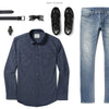Maker Two Pocket Men's Utility Shirt In Navy Ways To Wear With Light Denim