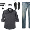 Fixer Two Pocket Men's Utility Shirt In Slate Gray Ways To Wear With Medium Denim