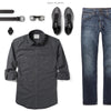 Fixer Two Pocket Men's Utility Shirt In Slate Gray Ways To Wear With Dark Denim