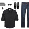 Fixer Two Pocket Men's Utility Shirt In Jet Black Ways To Wear With Dark Denim