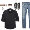 Fixer Two Pocket Men's Utility Shirt In Jet Black Ways To Wear With Medium Denim