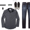 Editor Two Pocket Men's Utility Shirt In Slate Gray Ways To Wear With Dark Denim