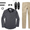 Editor Two Pocket Men's Utility Shirt In Slate Gray Ways To Wear With Chinos