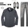 Editor Two Pocket Men's Utility Shirt In Slate Gray Ways To Wear With Gray Denim