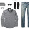 Maker Two Pocket Men's Utility Shirt In Smoke Gray Ways To Wear With Medium Denim