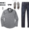Maker Two Pocket Men's Utility Shirt In Smoke Gray Ways To Wear With Dark Denim