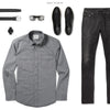Maker Two Pocket Men's Utility Shirt In Smoke Gray Ways To Wear With Black Denim
