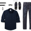Fixer Two Pocket Men's Utility Shirt In Dark Navy Ways To Wear With Dark Denim