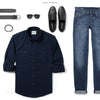 Fixer Two Pocket Men's Utility Shirt In Dark Navy Ways To Wear With Medium Denim