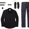 Specialist Two Pocket Men's Utility Shirt In Jet Black Ways To Wear With Dark Denim