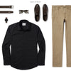 Specialist Two Pocket Men's Utility Shirt In Jet Black Ways To Wear With Khaki Chinos