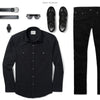 Operator Two Pocket Men's Utility Shirt In Black Ways To Wear With Black Denim