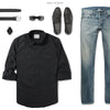 Explorer Two Pocket Men's Utility Shirt In Jet Black Ways To Wear With Medium Denim