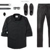 Explorer Two Pocket Men's Utility Shirt In Jet Black Ways To Wear With Black Denim