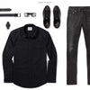 Convoy Two Pocket Men's Utility Shirt In Pure Black Ways To Wear With Black Denim