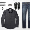 Convoy Two Pocket Men's Utility Shirt In Industrial Gray Ways To Wear With Medium Denim