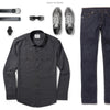 Convoy Two Pocket Men's Utility Shirt In Industrial Gray Ways To Wear With Dark Denim