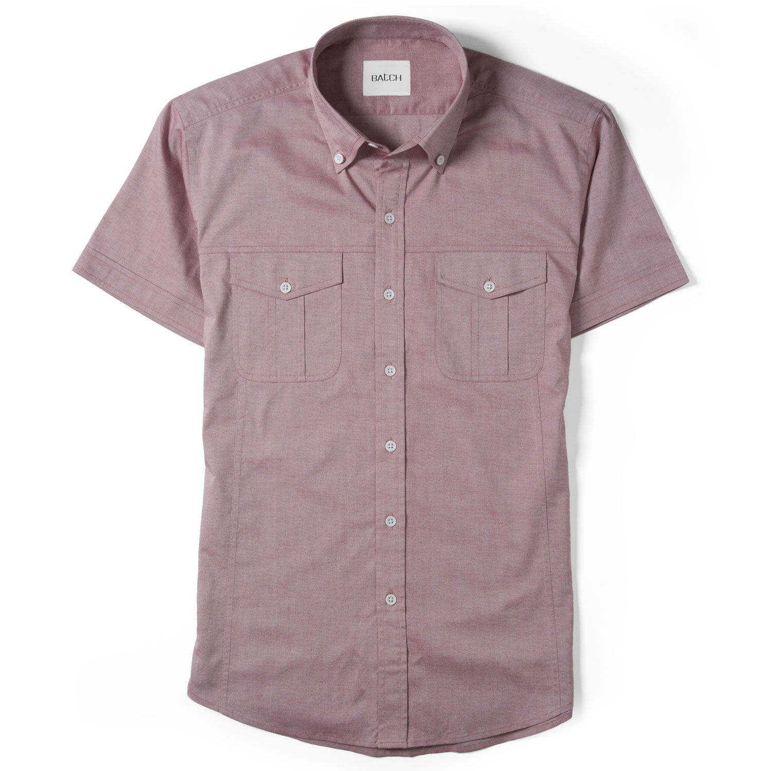 Editor Short Sleeve Utility Shirt – Light Currant Pinpoint Oxford