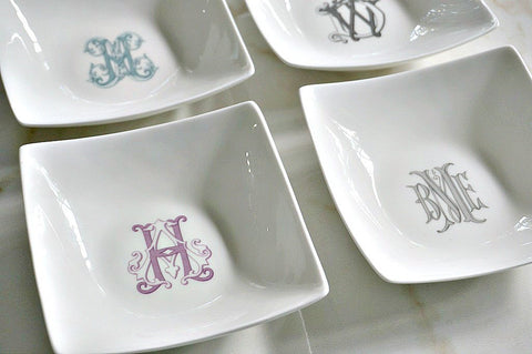 Bone China Petite Appetizer Dish - The Gabriel Collection- Set (4)