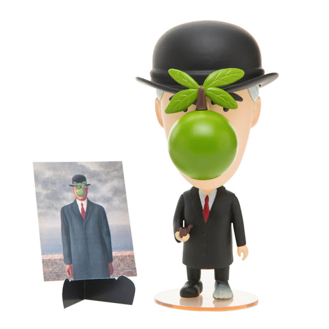 René Magritte Action Figure-Collectible-Today is Art Day-The Impractical Pig