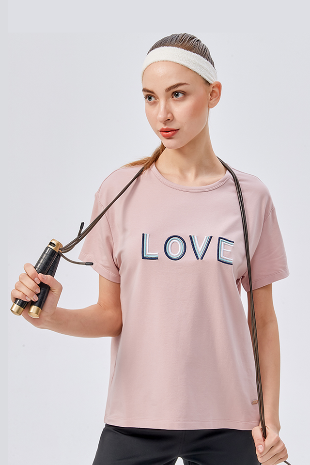 Love Embroidered Tee