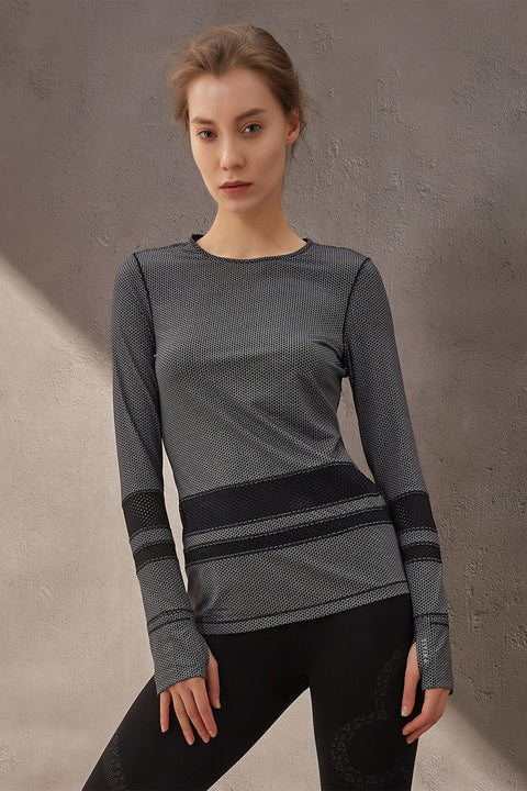 Astrid Mesh Long Sleeve Top