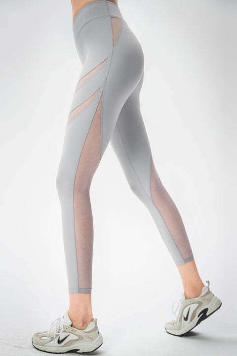 Heart Graphic Mesh Leggings