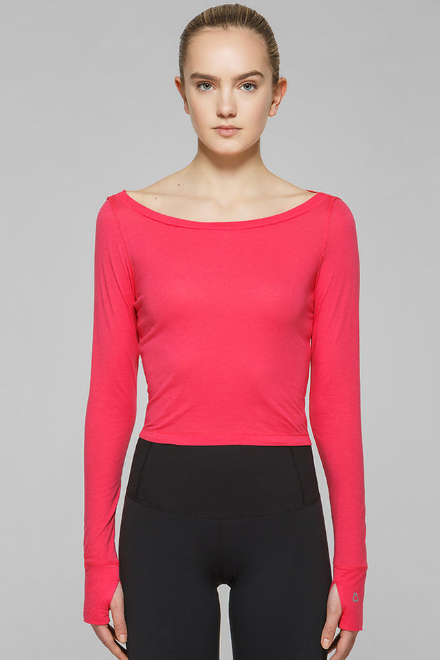 Megan Long Sleeve Crop Top II