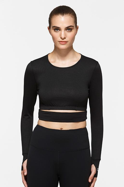 Beatrix Long Sleeve Crop Top - Titika Active Couture™ (Hong Kong)